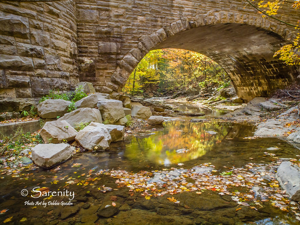 Fall Framed by Stone, McCormick's Creek State Park, Spencer, IN, Owen County