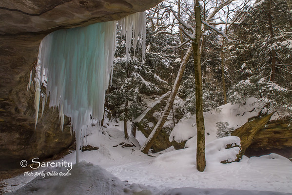 These incredible icicles near wedge rock have an amazing bluish cast to them!