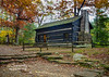 The Lieber Cabin at Turkey Run State Park surrounded by Fall Color!
