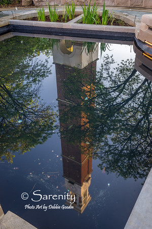 Purdue Bell Tower Reflected