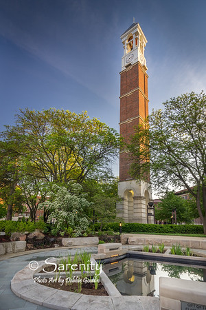 Purdue Bell Tower, Sunken Pond and Garden