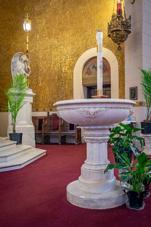 Marble Baptismal font