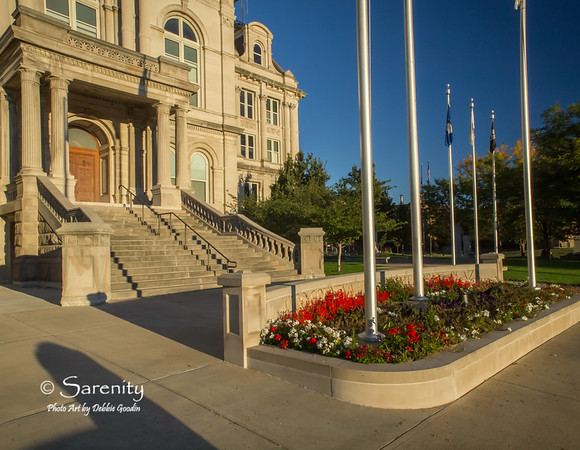 The front of the Courthouse Building on a beautiful Fall morning!