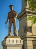 This figure of a sailor stands on the Southwest corner of the Soldiers and Sailors Monument!