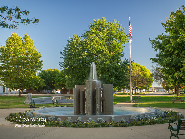 The beautiful fountain behind the Courthouse!