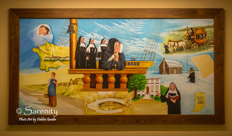 4 beautiful murals painted by Local Artist Bill Wolfe line the walls of the lower level of the entrance to the Courthouse!