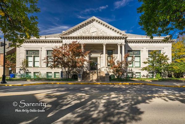 Emeline Fairbanks Memorial Library (Fairbanks Hall), Indiana State University Campus