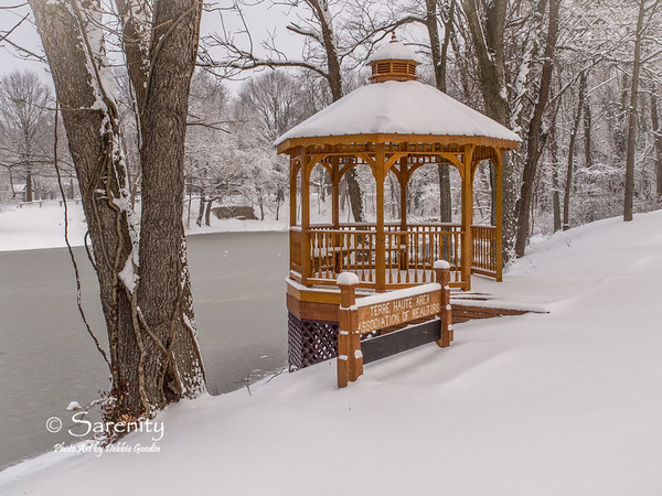 The beautiful Terre Haute Area Association of Realtors Gazebo on a cold Winter day!