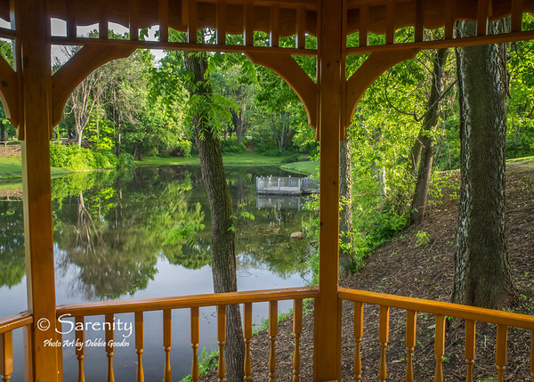 The beautiful view from under the gazebo!