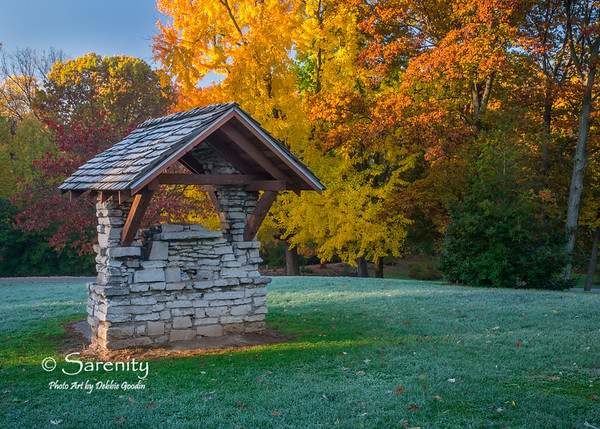 An early moring glow lights up this old pump housing and the surrounding trees at Deming Park!