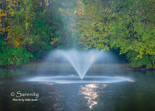 A dreamy mist rises from this fountain at Deming Park one cold Fall Mornging!  Beautiful!