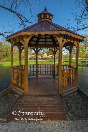 Terre Haute Realtors Gazebo looking towards Dogwood Point.