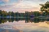 A beautiful morning view overlooking Ruble Lake towards the Irishman's Bridge and Pioneer Village.