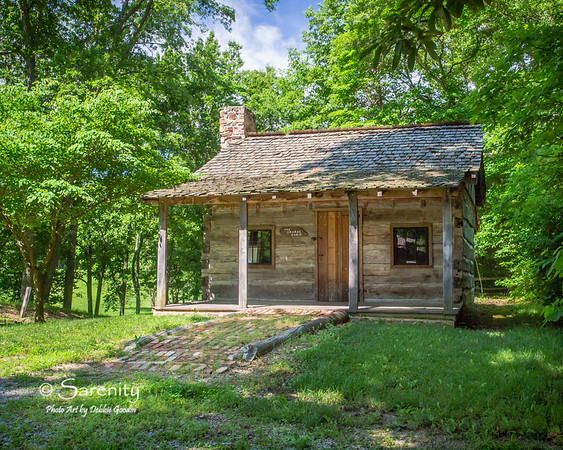 Laura's Cabin located inside the Pioneer Village at Fowler Park in Vigo County, IN!