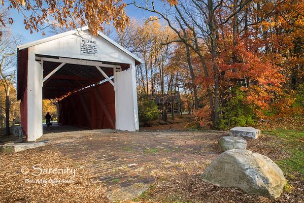 Fall at the Irishman's Bridge in Fowler Park, Terre Haute, IN