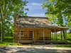 A log building located inside the Pioneer Village at Fowler Park in Vigo County, IN!