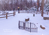 A Winter scene captured at the Smith Memorial Labyrinth entrance!
