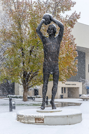 Larry Bird Sculpture  by Artist Bill Wolfe