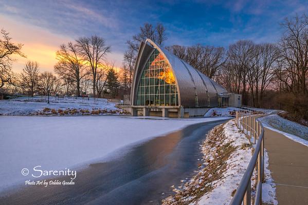 Winter sunrise at the White Chapel