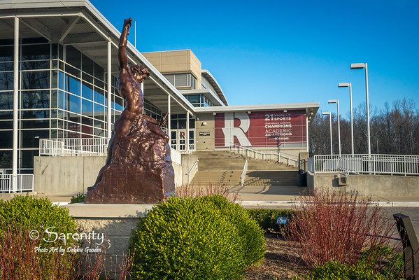Self Made Man Sculpture - by Bobbie Carlyle, Sports and Rec Center