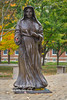 St. Mother Theodore Guerin Statue in the Fall