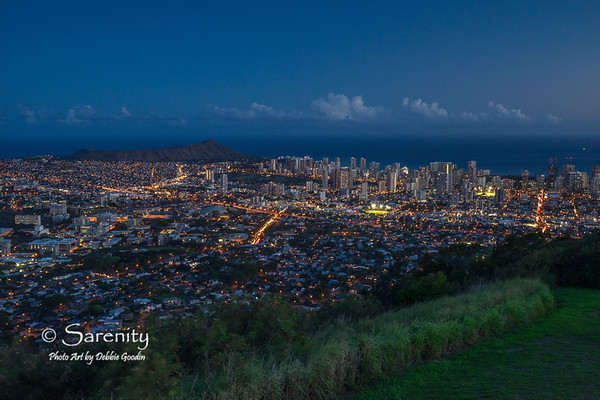 Night Lights - Downtown Honolulu