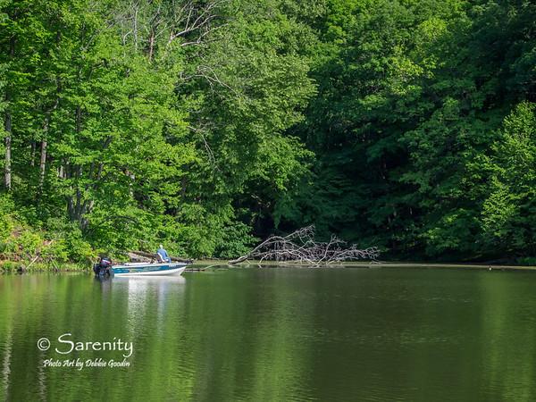 A fisherman enjoys a beautiful Spring morning!