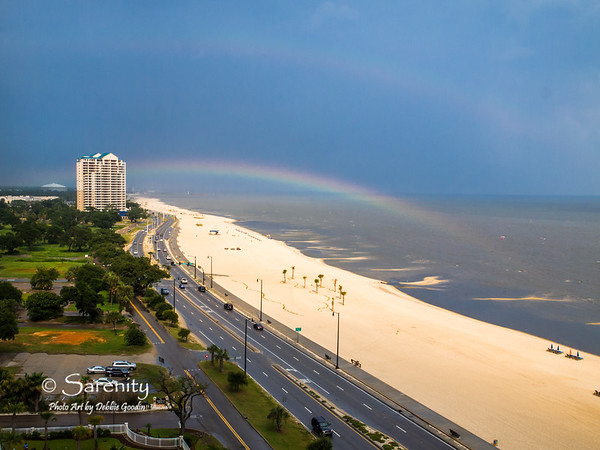 An amazing double rainbow as storms roll through the Gulf Coast areas of Gulfport and Biloxi!