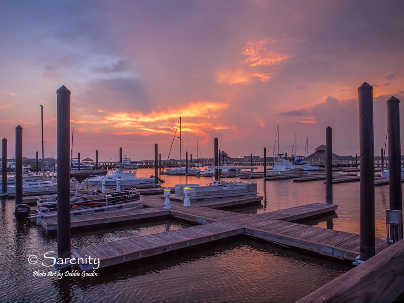 Sunset from the Marina!