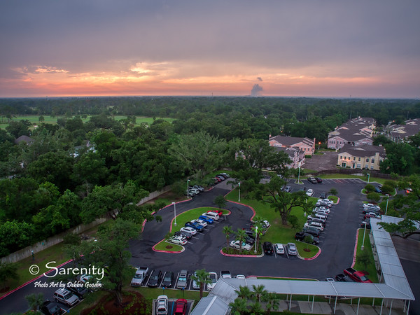Sunset over Gulfport from the Gulfcoast Resort Rentals Legacy Towers!