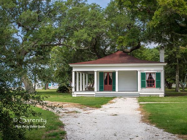The Hughes house on the Beauvoir property!