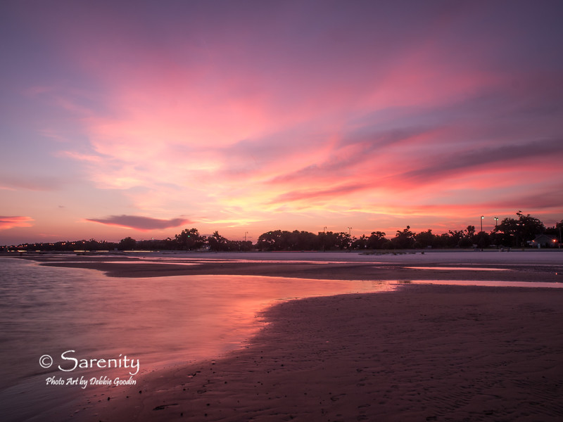 Beautiful sunset looking towards Gulfport at low tide!