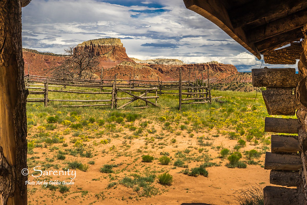 From the porch of the home used for the movie City Slickers. Ghost Ranch, Abiquiu, NM
