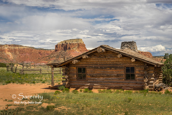 The log home used on the movie set of City Slickers. Ghost Ranch, Abiquiu, NM