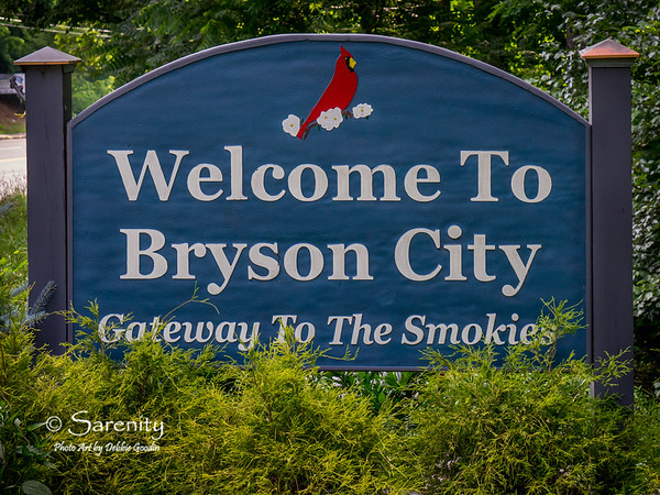Welcome to Bryson City sign!