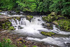 A beautiful waterfall in the Nantahala National Forest created on a Spring evening.
