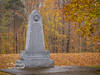 The War of 1812 Memorial surrounded by Fall Colors. Natchez Trace Trail.