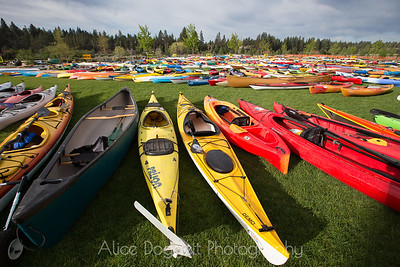 Kayaks at Bend's Pole Pedal Paddle 03