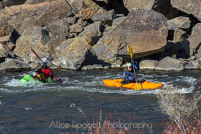 Kayaking On The Deschutes River, Near Sawyer Park, Bend, OR