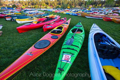 Kayaks at Bend's Pole Pedal Paddle 02