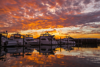 Sky On Fire - Anacortes Marina