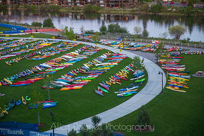 Kayaks at Bend's Pole Pedal Paddle 01
