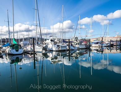 Striking Reflections, Anacortes Marina, WA