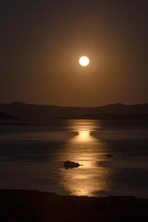Moon Over Mono Lake