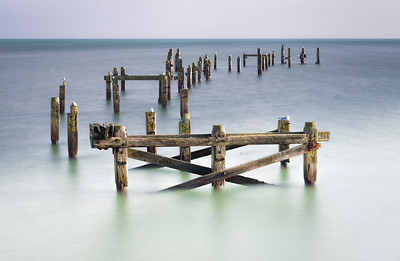 Remains of the old pier, Swanage