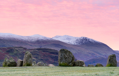 Castlerigg Stone Circle, Cumbria, at dawn
