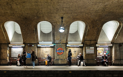 Baker Street, a station on the world's oldest underground passenger railway (1863)