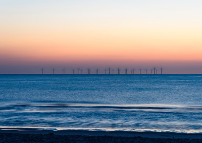 Wind farm, off New Brighton, Wallasey