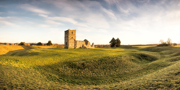 Knowlton church (Norman/C14), Dorset, sited within a late-Neolithic Henge monument