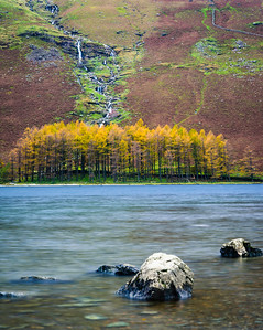 Autumn colours below High Crag, Buttermere, Cumbria